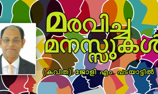 മരവിച്ച മനസ്സുകള് (കവിത) ജോളി എം. പടയാട്ടില്