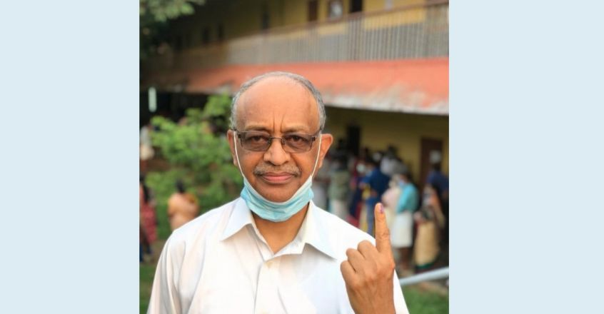 അമേരിക്കയിൽ 53 വർഷം, പക്ഷെ ഇന്ത്യൻ പൗരൻ; ആദ്യ വോട്ടറായി ജോർജ് ഏബ്രഹാം
