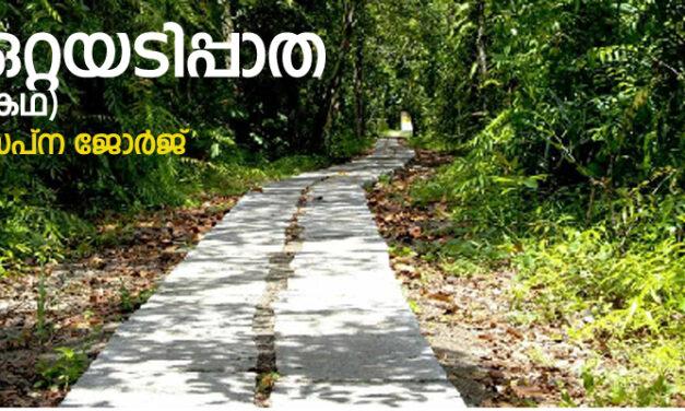 ഒറ്റയടിപ്പാത (കഥ) സപ്ന ജോര്ജ്